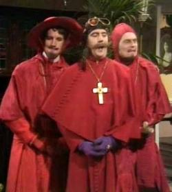 The Spanish Inquisition according to Monty Python
